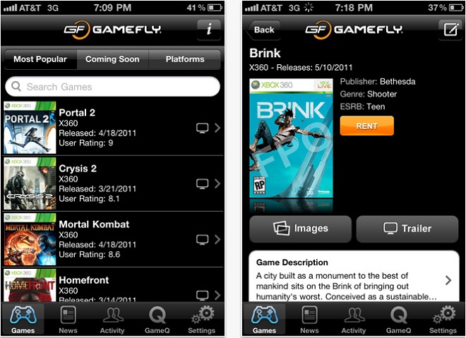 GameFly-mobile-phone-app