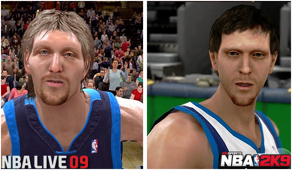 NBA 2k graphics vs NBA live