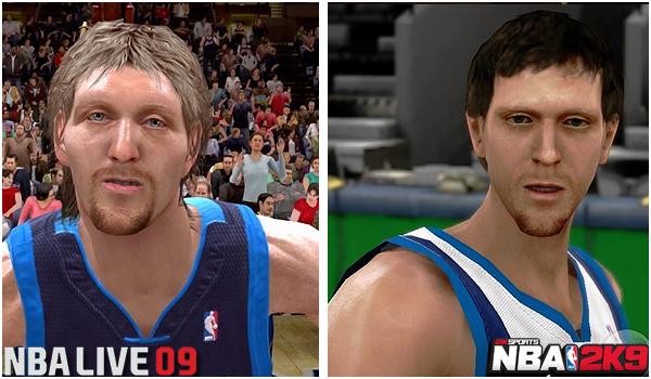 NBA 2k graphics vs NBA live